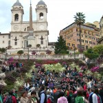 Walking the Spanish Steps in Rome