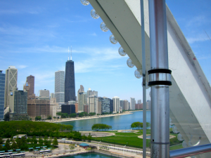 Chicago from the Top of the Ferris Wheel at Navy Pier